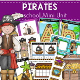 Pirates Themed Preschool Math and Literacy Centers