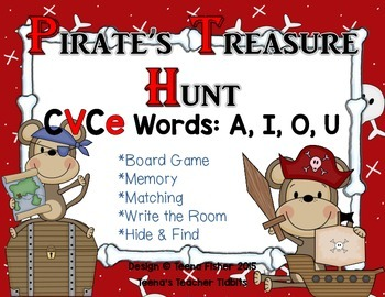 Pirate's Treasure CVCe Magic E Long Vowel Word Hunt RF.1.3