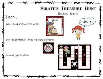 Pirate's Treasure CVCe Magic E Long Vowel Word Hunt RF.1.3