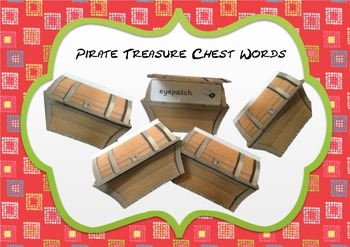Pirate's Treasure Chest Word Cards- Open the Treasure Chest to find the word!