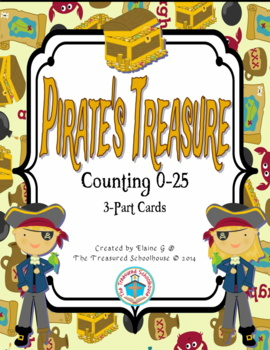 Counting 0-25 3-Part Cards with Pirates
