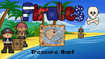 Review Game - Pirates Treasure Hunt - TEMPLATE  Power Point