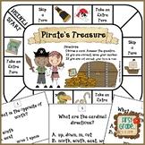 Pirate's Treasure--Map Skills Game