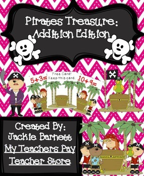 Pirates Treasure Math Game: Addtion CCSS Aligned