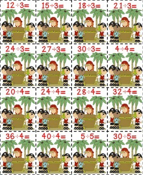 Pirates Treasure Math Game-Division CCSS Aligned
