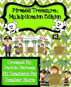Pirates Treasure Math Game-Multiplication CCSS Aligned