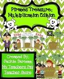Pirates Treasure Math Game-Multiplication CCSS Aligned