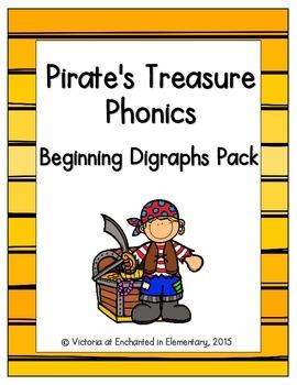 Pirate's Treasure Phonics: Beginning Digraphs Pack