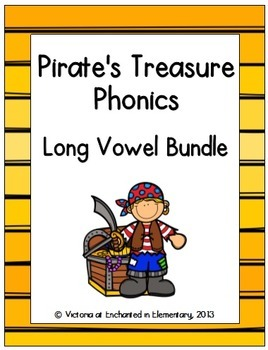 Pirate's Treasure Phonics: Long Vowel Bundle