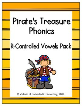 Pirate's Treasure Phonics: R-Controlled Vowel Words Pack