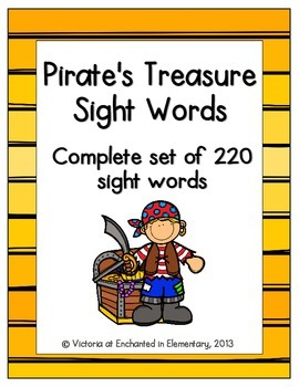 Pirate's Treasure Sight Words! Complete Set of 220 Sight Words