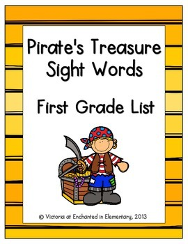 Pirate's Treasure Sight Words! First Grade List Pack