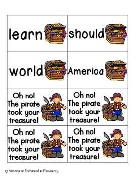 Pirate's Treasure Sight Words! Fry List 2