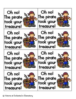Pirate's Treasure Sight Words! Pre-Primer List Pack