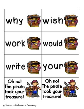 Pirate's Treasure Sight Words! Second Grade List Pack