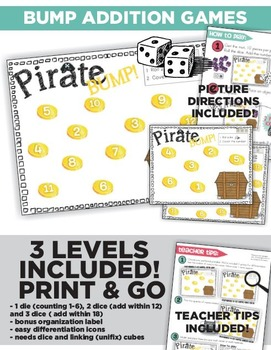 Pirate Math and Literacy Centers and Small Group Materials