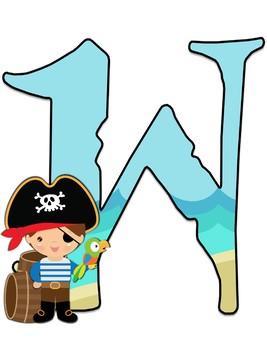 Pirates WELCOME letters