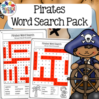 Pirates Word Search Activity