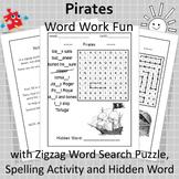 Pirates Word Work Fun