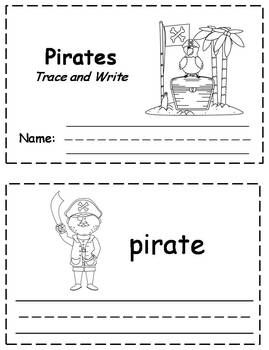 Pirates Words Trace & Write Book