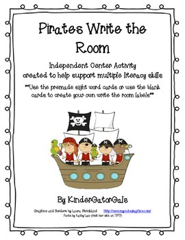 Pirates Write the Room - Black and White Edition