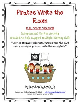 Pirates Write the Room - Literacy Center