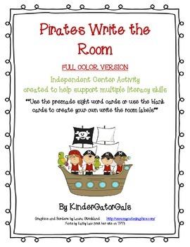 Pirates Write the Room - Literacy Center