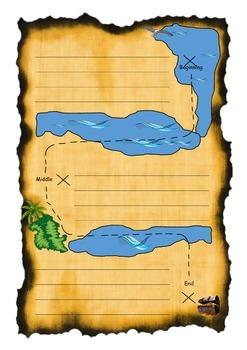Pirates Writing Sheet- Story Map- Story Plan