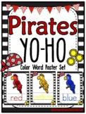 Pirates Yo-Ho | Color Word Poster Set