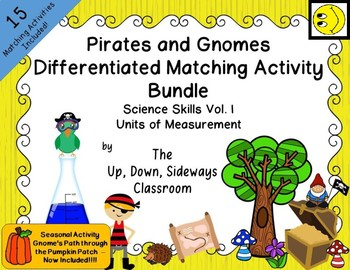 Pirates and Gnomes Differentiated Matching Activity Bundle- Units of Measurement
