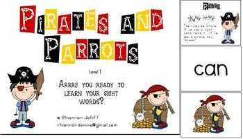 Pirates and Parrots Sight Word Practice Level 1