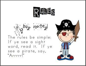 Pirates and Parrots Sight Word Practice Level 2