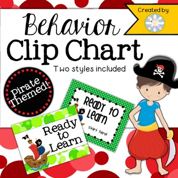 Behavior Clip Chart - Pirate Theme