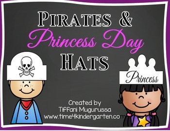 Pirates and Princess Day Hats
