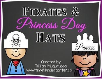 Pirates and Princess Day Hats