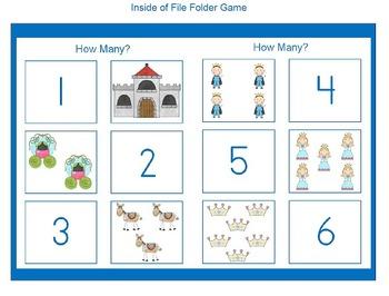 Pirates and Princess File Folder Games