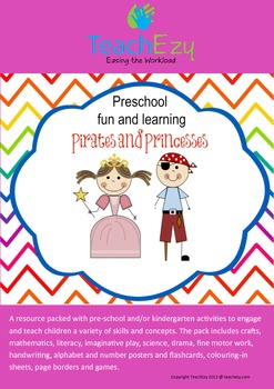 Pirates and Princess Preschool and Kindergarten Unit of Work