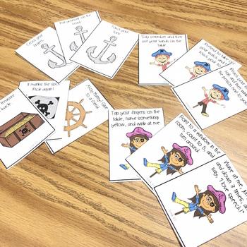 Pirates and Pronouns:  Pirate Themed Pronoun Cards