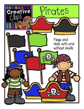 Pirates and Treasure Map Combo {Creative Clips Digital Clipart}