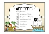 Pirates - ar and Other Literacy Activities