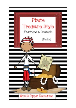Pirate Treasure Style - Matching decimals and common fractions