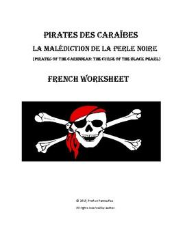 Pirates des Caraibes: La Malédiction de la Perle Noire French Worksheet