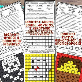 Pirates of Poetry Mystery Pictures with Poetry Skills Worksheets