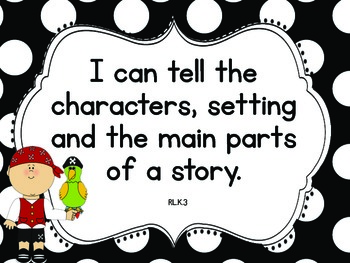 "Pirates on Deck Common Core ""I CAN"" Statements-Kindergarten"