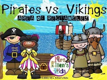 Pirates vs. Vikings: Area of Rectangles