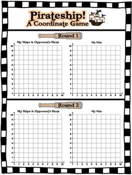Pirateship!  Coordinate Graphing Game