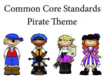Piratespirate 2nd grade English Common core standards posters