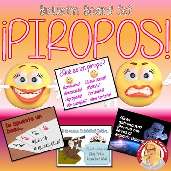 Piropos Spanish Bulletin Board Set (perfect for Valentine's Day!)