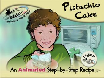 Pistachio Cake - Animated Step-by-Step Recipe