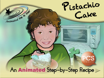 Pistachio Cake - Animated Step-by-Step Recipe PCS